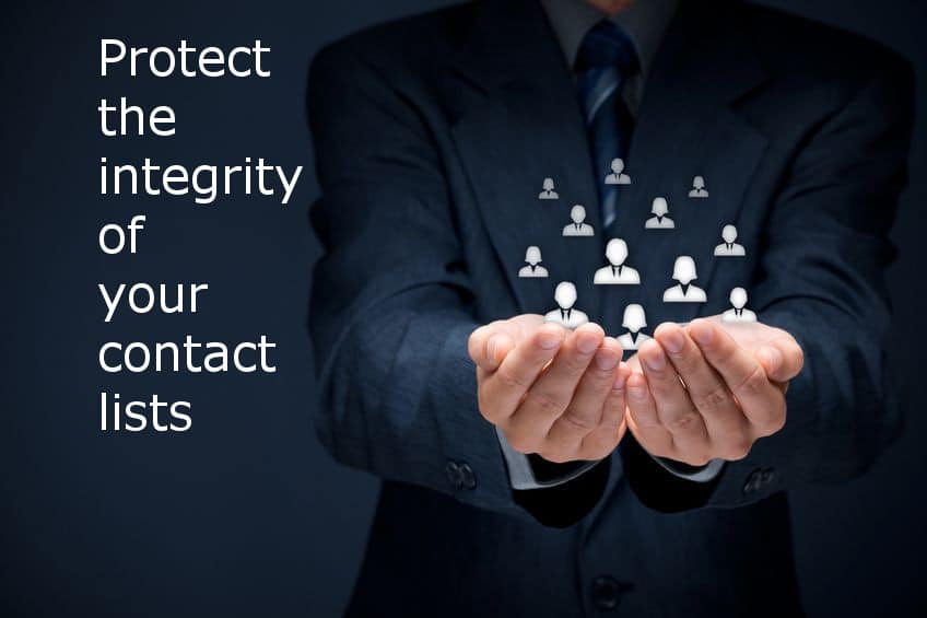 Protect the integrity of your contact lists