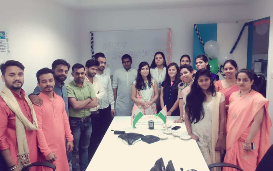 Telegenisys's Pune office celebrated Indian independence day on august 15th