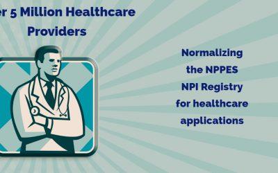 Normalizing guidance for NPI database