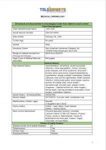 Medical Summary - Condition Specific-01