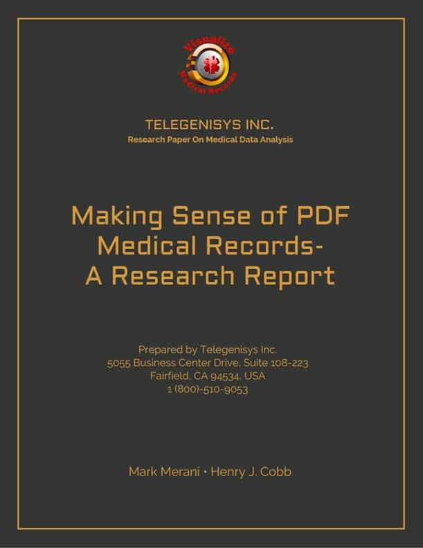 Research Report - Making Sense of PDF Medical Records