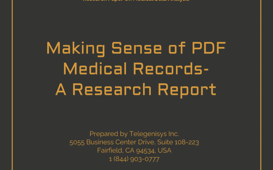 Making sense of PDF medical records – A research report